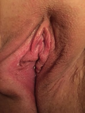 amateur photo Wife's pussy peeling her open