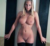 Blonde in stockings