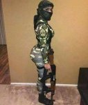 amateur photo I would assume her name is Isis