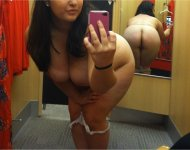 A fitting shot from a fitting room