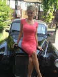 amateur photo Milf in a red dress