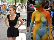 amateur photo On/off body paint edition