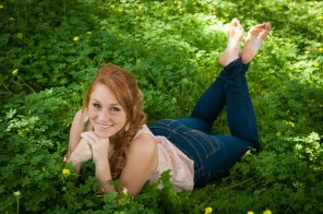 amateur photo Redhead in The Pose