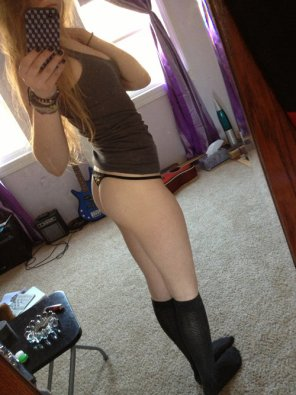 amateur photo Knee Highs