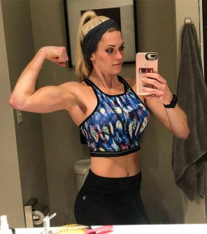 amateur photo Blonde Flex