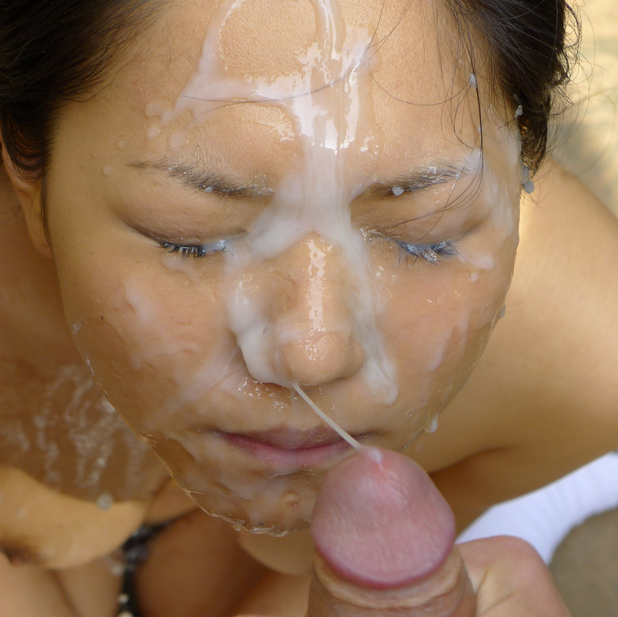 A huge facial and dried cum on shoes in this update 1