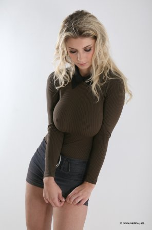 amateur photo Tight Sweater