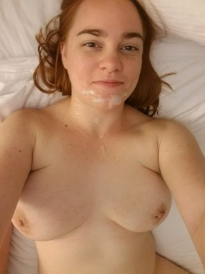 amateur photo Want to add more cum to my face?