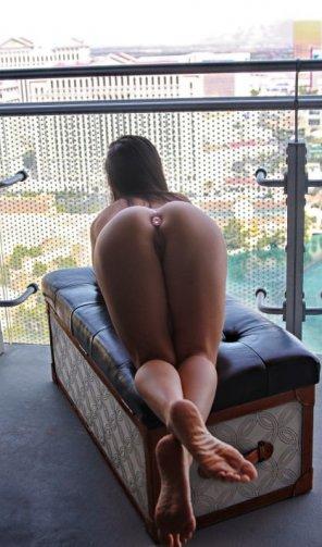 amateur photo Beautiful Girl in the Balcony