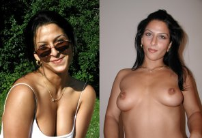 amateur photo Romanian brunette goes topless