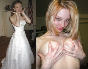 amateur photo Blushing Bride