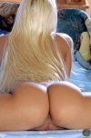 amateur photo Blonde with a booty