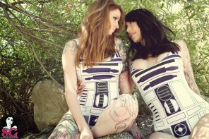 amateur photo Couple of R2 units