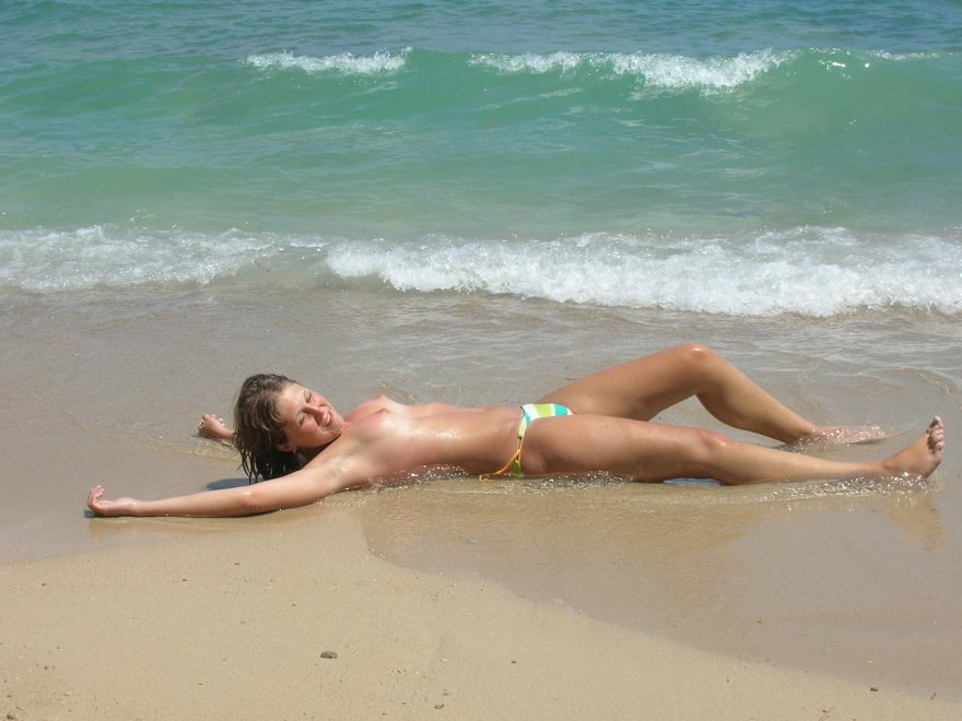At the beach Porn Photo