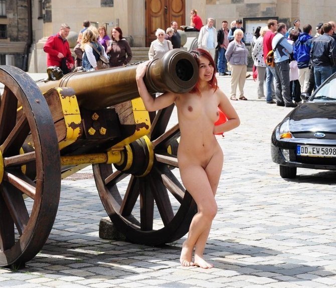 She loves a big cannon. Porn Photo