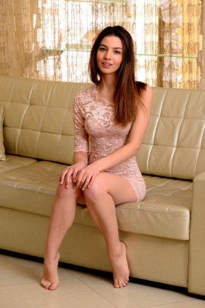 amateur photo Thin dress
