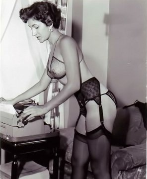 amateur photo Appropriate office attire, circa 1950