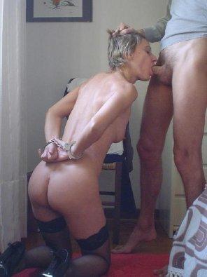 amateur photo Handcuffed Blowjob