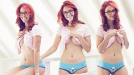 Meg Turney showing some underboob