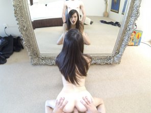 amateur photo In front of the mirror