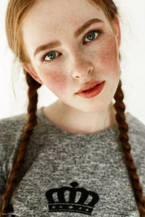 amateur photo Pigtails & freckles