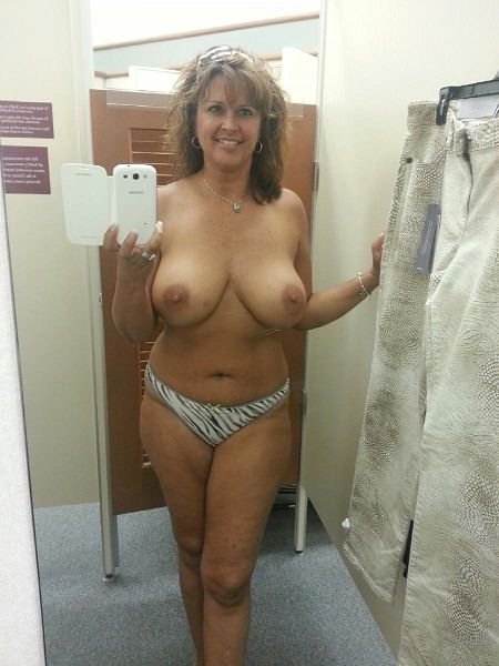 Milf in dressing room