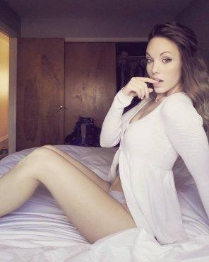 amateur photo Cardigan & Panties