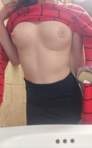 amateur photo Feeling horny at work