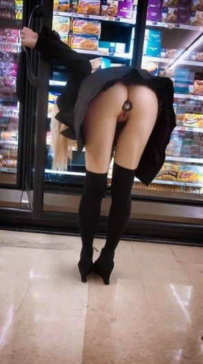 amateur photo In a supermarket