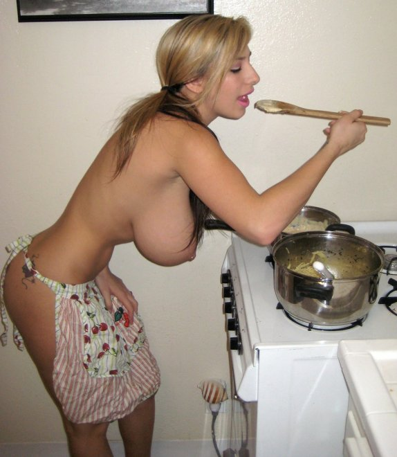 Fettucine Alfredo. And Boobs. Porn Photo