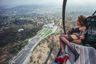 High above Hollywood