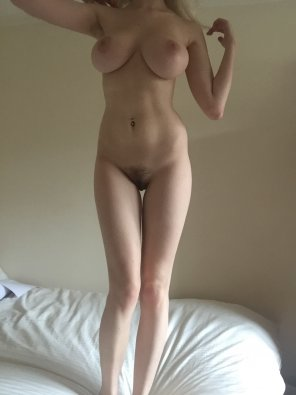 amateur photo Standing on the bed