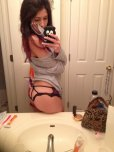 amateur photo Showing off the fancy underwear