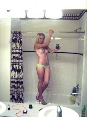 amateur photo Heels, pole...stripper audition? :)