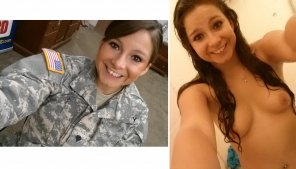 amateur photo In and Out of Uniform