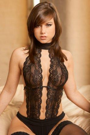 amateur photo Sheer lace
