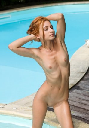 amateur photo Perfect body by the pool