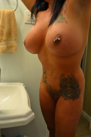 amateur photo Not only one piercing