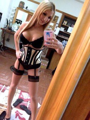 amateur photo Bimbo Doll in Stockings