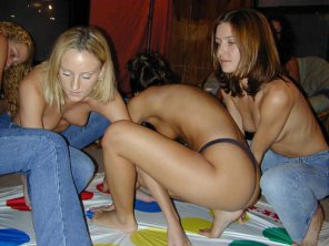 amateur photo Just girls playing twister