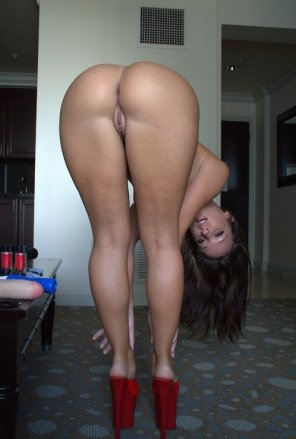 amateur photo Bend Over With Her High Heels Still On