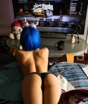 amateur photo Gamer girl