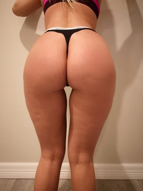amateur photo Thong of the day!!!! Today I have on just the classic Calvin Klein Thong, have a great sunday!!!