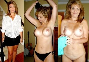 amateur photo Freckled chested milf
