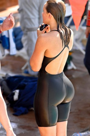 amateur photo Tight swimsuit