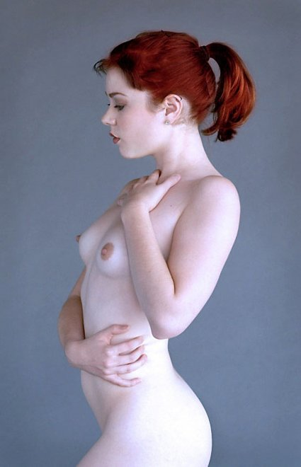 Pale and perfect shape in profile Porn Photo