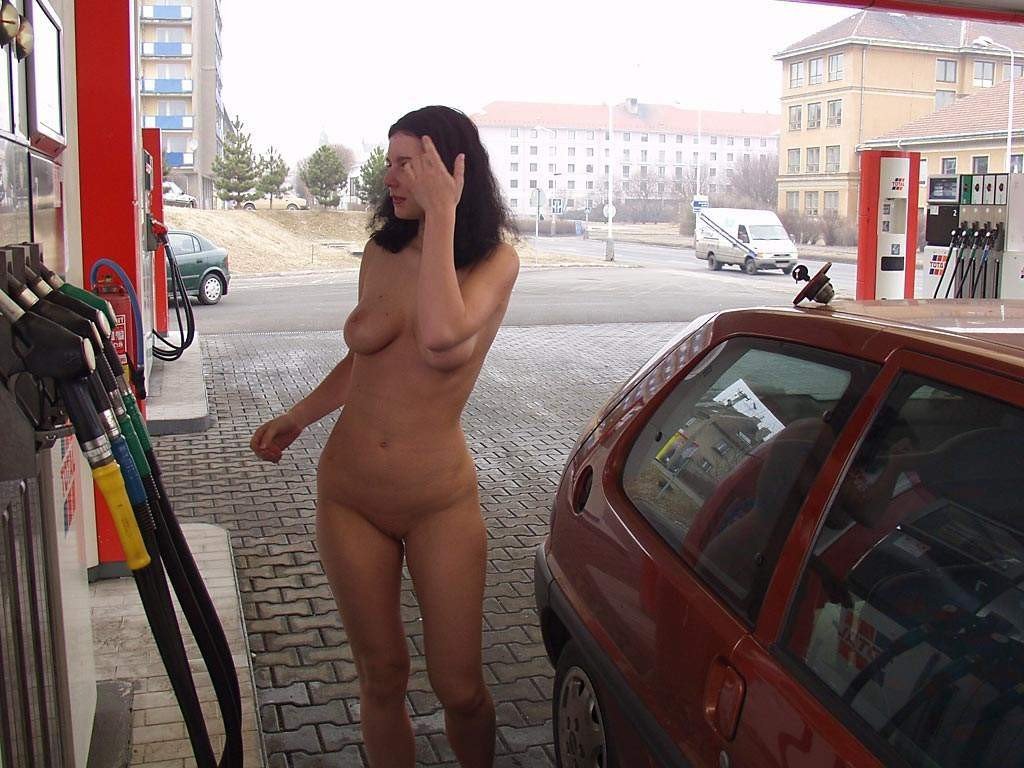 Gas Pump Girls Nude at a gas station porn pic - eporner