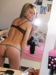 amateur photo Thong selfie