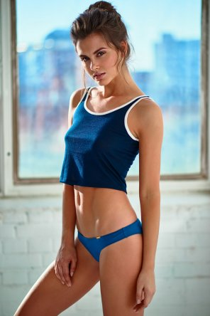amateur photo Babe in blue