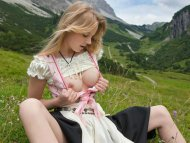 Admiring Herself In The Mountains